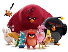 Angry Birds Movie Flock by on DeviantArt Abstract Iphone Wallpaper, Bird Wallpaper, Emoji Wallpaper, Black Wallpaper, Angry Birds Movie Characters, All Angry Birds, Baby Animal Drawings, Homemade Face Paints, Egyptian Tattoo