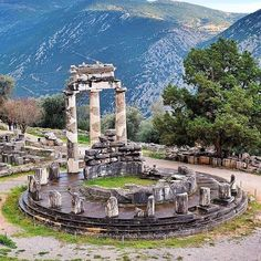 The site of Delphi is located in Greece. It was an important ancient Greek religious sanctuary sacred to the god Apollo. This place is surrounded with a lot of tales and myths and perhaps that`s the main reason why people from around the world come to visit this ancient spot.