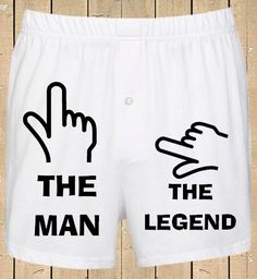 Personalised Men's Boxer Shorts The Man The Legend Funny Boxer shorts Mens Underwear Valentines Gift