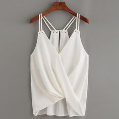 Women Casual Sleeveless Crop Top Vest Tank Shirt Blouse Cami Top – 1anthonydavis
