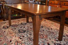 Arts & Crafts 6' Solid Oak Dining Table