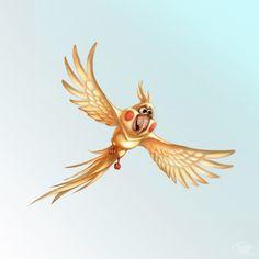 ArtStation - Cartoon parrot, Svesla Tasla