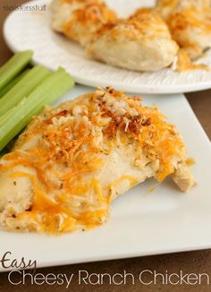 Easy Cheesy Ranch Chicken from Six Sisters' Stuff is perfect for dinner tonight!