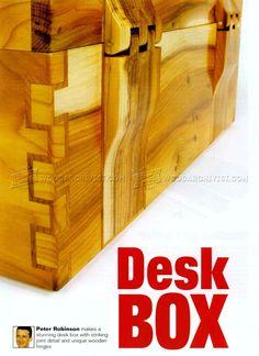 Desk Box Plans - Woodworking Plans