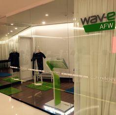 """Wav-e at """"Prenium fitness & spa"""" in Korea."""
