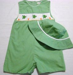 Boys green outfit