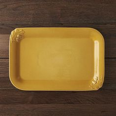 Harvest Yellow Serving Platter | Crate and Barrel