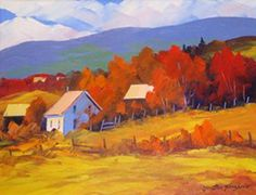 léo ayotte peintre - Recherche Google Landscape Art, Landscape Paintings, Landscapes, Pallette Knife Painting, Autumn Art, Tole Painting, Art Google, Cool Artwork, New Art