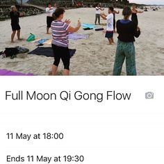 5.50pm Registration  Take Control of your own Health and Wellbeing..   Come along for a Full Moon  Calligraphy Health Qi Gong Flow training to begin to connect with your body in a way which stimulates positive flow within your Meridians and other Circulatory Systems for improved Health and physical capabilities. As well as connecting with Heaven Earth and the energy source which is the Moon for an experience which is hard to explain and can vary greatly depending on the individual…