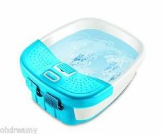 Homedics Fb-50C Blue White Bubble Bliss Deluxe Foot Spa With Heat