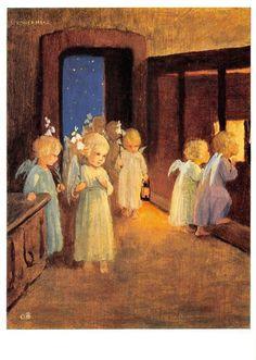 "vintage blank greeting cards ARS SACRA Schönermark""angelvisit""1329"" | eBay"