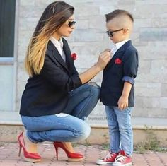 "Many parents like and are proud to wear matching outfits with their children, turning their kids into their mini copies. Many of them often post adorable photos of their ""mini-me's"" son or daughter on the social pages. I think it is cute when parents and kids dress alike. Here are some photos of fas..."