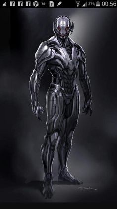 Avengers Age of Ultron Andy Park Concept Art 2 Avengers: Age of Ultron Concept Art Reveals Alternate Ultron Designs Comic Book Characters, Marvel Characters, Comic Character, Comic Books Art, Fictional Characters, Marvel Villains, Marvel Comics Art, Marvel Heroes, Age Of Ultron