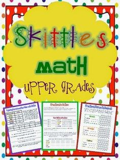 A fun Skittles math project for upper elementary kids.  You can go over concepts such as mean, median, and mode while eating some tasty candy.   Sammi Bachman