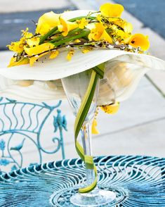 centerpieces using hats | INTRIGUE - Floral Design: Award Winning Flowers in Annapolis