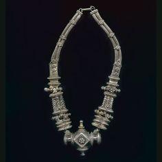 Tribal silver necklace, Rajisthan