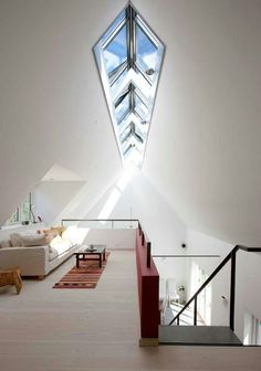 Attic conversion with amazing windows for light