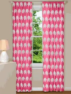Elephant Curtains! This site has great modern fabric curtains at decent prices...