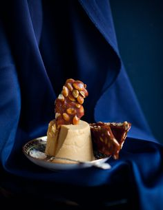 Pumpkin Panna Cotta with Spiced Pepita Brittle by Stephanie Shih for Anthologymag.com