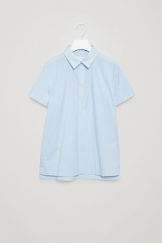 COS image 6 of Cut-out tunic shirt in Powder Blue
