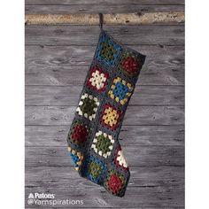 Crochet Granny Square Stocking Thanks so xox ☆ ★ https://uk.pinterest.com/peacefuldoves/