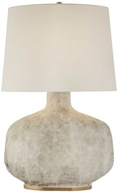KELLY WEARSTLER | BETON TABLE LAMP. Antique White