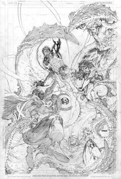 Justice League page by Jim Lee