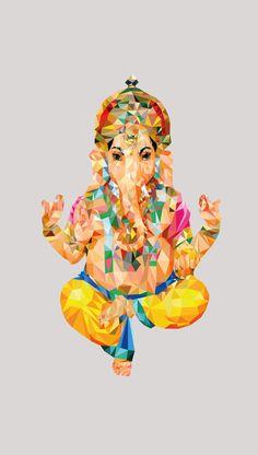 Ganesha Phone Wallpaper by Las 12 en punto Cute Wallpaper For Phone, Apple Wallpaper, Textured Wallpaper, Buda Wallpaper, Ganesh Wallpaper, Attractive Wallpapers, Cute Wallpapers, Arte Shiva, Pure Yoga