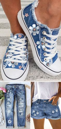Boho Fashion, Fashion Shoes, Fashion Outfits, Womens Fashion, Painted Clothes, Painted Shoes, Cool Outfits, Summer Outfits, Casual Outfits