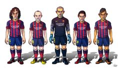 FC Barcelona / Real Madrid by Sakiroo Choi, via Behance Fc Barcelona, Soccer Players, Football Team, Lionel Messi, Neymar, Real Madrid, Behance, Illustrations, Collection