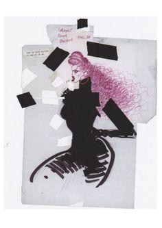 Jean-Paul Goude Fashion Sketches, Fashion Illustrations, Esquire, Art Director, Dark Skin, Fashion Art, Graphic Design, Drawings, Creative