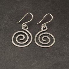 Spiral Earrings Sterling Silver Earrings Silver Swirl by Artulia, $22.00