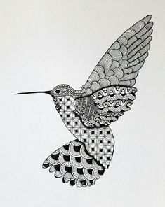 This is a detailed Zentangle print that I drew using a black Micron archival ink pen. A pencil was used for some shading. I had professional Tree Drawings Pencil, Bird Drawings, Dibujos Zentangle Art, Zentangle Patterns, Art Patterns, Mosaic Patterns, Bird Stencil, Dancing Drawings, Mandala Art Lesson