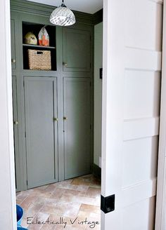 Mudroom Renovation - great color and use of space