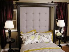 How to make a tufted headboard that fits in a murphy bed.