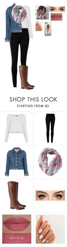 """a windy day in London"" by directioner-873 on Polyvore featuring Topshop, Max Studio, Joe Browns, Tory Burch, She's So and Casetify"