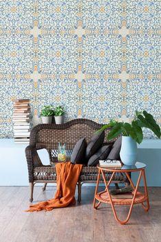 Prémiová tapeta na zeď MINDTHEGAP Spanish Tile. Designové tapety od GLIX.