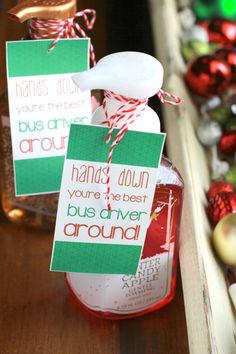 Hands Down Best Bus Driver Gift Idea using Bath & Body Works soap and simple tag