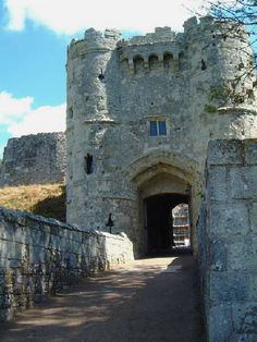 Carisbrooke Castle - Isle of Wight photo by Douglas Cox. The site of a week long living history re-enactment, the castle gates were closed behind us overnight, very special experience.