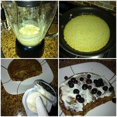 Protein pancakes are not just for body builders! Packed full of fiber and protein. They are for warm breakfast kind if mornings. Add plain organic Greek yogurt for icing. Should only be eaten in the morning. High calorie meal