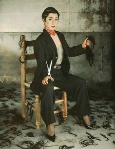 Yasumasa Morimura, An Inner dialogue with Frida Kahlo (Self-portrait with Cropped Hair 1), 2001, C-print, 150×113cm,
