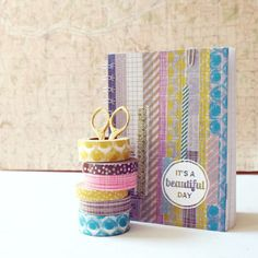 Washi tape notebook - from Oh, hello friend via @babycenter #diy #washitape