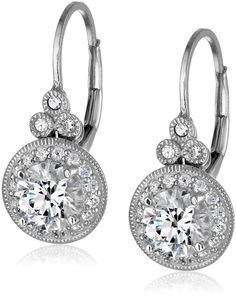 Platinum or Gold-Plated Sterling Silver Swarovski Zirconia Antique Drop Earrings (3.5 cttw) | Earrings-------Colors Available: Platinum-Plated, Rose-gold-plated and Yellow-gold-plated----------- Beautiful,Elegant and Pretty Earrings suitable for Wedding,Casual and Work Wear in Summer/Spring 2016-------- Great Earrings for Bridesmaid