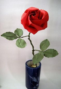 The PT rose taught folding like paper roses you learn origami tutorial