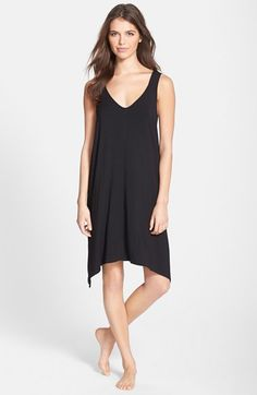 DKNY 'Urban Essentials' Jersey Chemise available at #Nordstrom