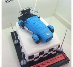 Race car cake