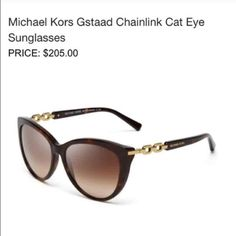 1a64da223a7d Michael Kors Gstaad Tortoise Chainlink Sunglasses Eyewear by Michael Kors is  perfect for any mood.