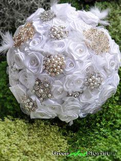 Bridal Brooch Bouquet, Brooch Bouquets, Green Art, Artificial Flowers, Dublin, Christmas Bulbs, Holiday Decor, Rose, Shop