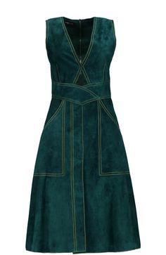 Derek Lam Платье кожаное Зеленый [object Object] Р.