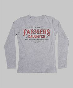 Take a look at this Heather Gray 'Farmer's Daughter' Tee - Women by International Harvester on #zulily today!